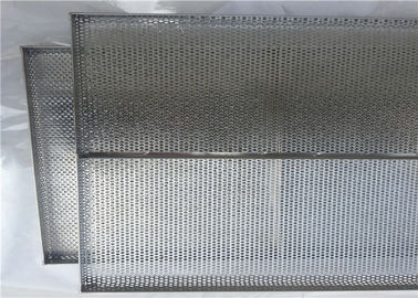 Food Grade Stainless Steel Mesh Tray Corrosion Resistance For Oven